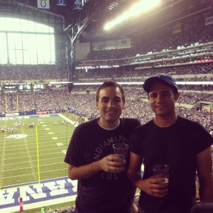 Another reason I like the Colts? I won tickets to a game last year through the owner's trivia contest on Twitter.
