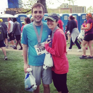 Christine and I both did the 500 Festival Mini Marathon this year.